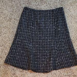 Rafaella black, white, gray skirt, size 6